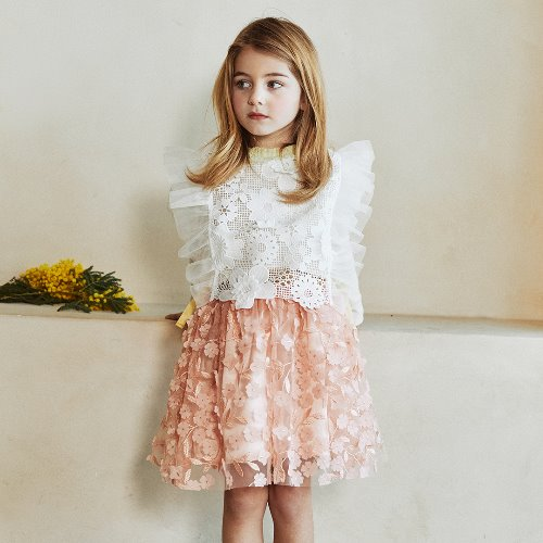 flower tulle skirt빔보빔바